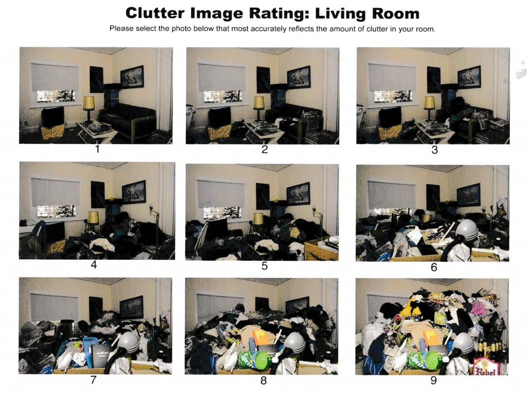 Clutter Image Rating Scale Your Life Simplified Llc